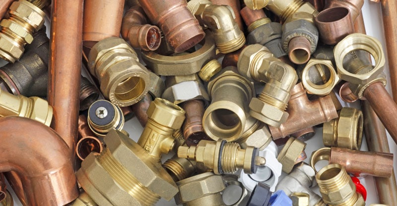 Typical plumbing consumables used in above and below ground drainage systems and sanitary installations