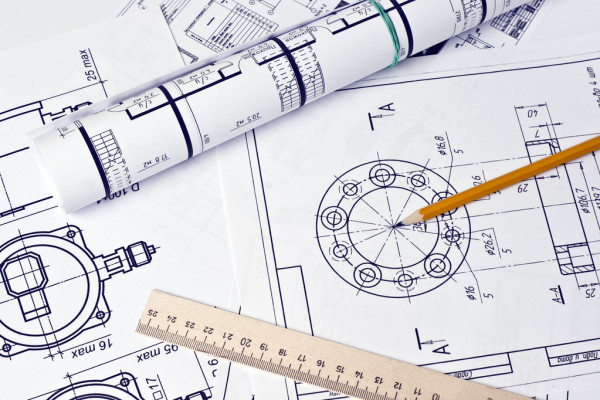 Engineering drawings and sketches