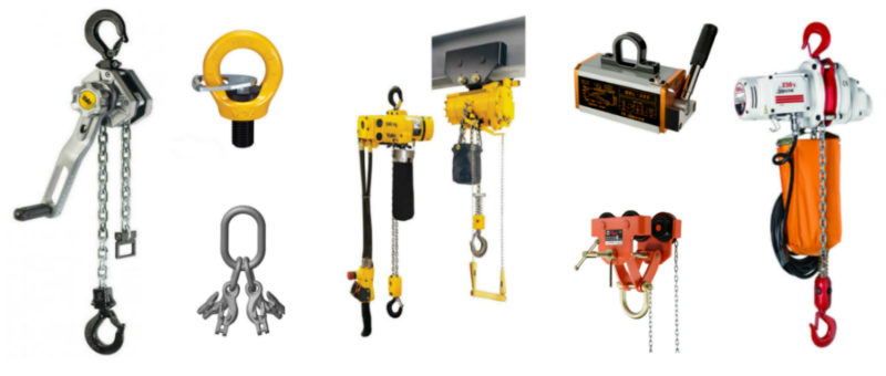 Lifting, moving and manoeuvring a load using mechanical lifting equipment